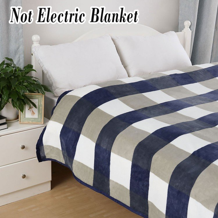 Soft Plush Flannel Blanket Warm Fuzzy Bed Blankets for Bed